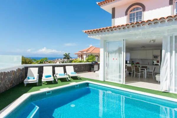 Tenerife-Luxury Villa con piscina riscaldata vista oceano