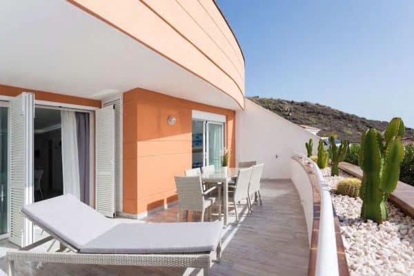 TENERIFE, New sea view apartment with terrace and heated pool