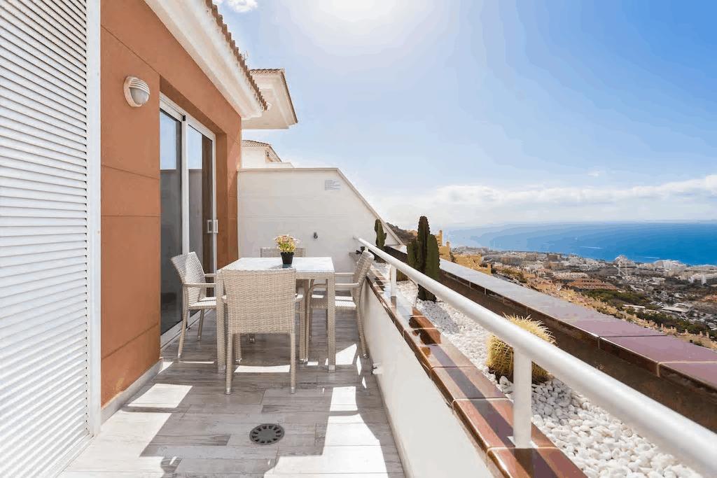 TENERIFE Appartamento con Stupendo terrazza vista mare piscina riscaldata